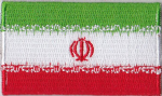 Iran Embroidered Flag Patch, style 04